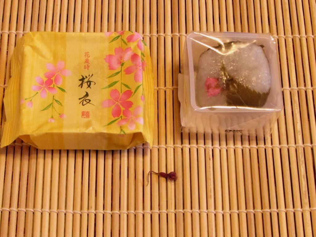 Sakura Mochi and Sakura Goromo wagashi snacks
