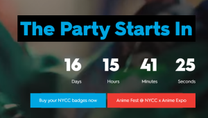 NYCC 2018 the party starts soon