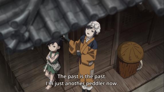 Osushi reflecting on her fate in Dororo episode 4