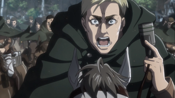 Commander Erwin Smith, leading his final charge.
