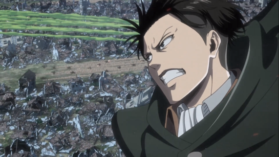 Beautiful visuals as always this week. Captain Levi, Attack on Tian s3