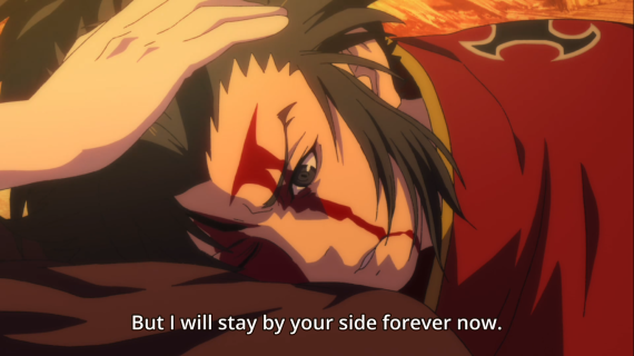 Tahomaru's reaction to his mother's words, Dororo episode 24