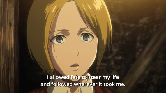 Grisha Yeager leaves his life up to fate. Shingeki no Kyojin s3 pt 2 Episode 20