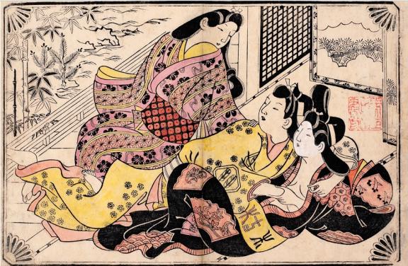 Three Lovers Japan, Edo Period (1615-1868) by Sugimaru Jihei. C. Honolulu Museum