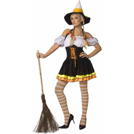 Adult Candy Corn Halloween Costume (photo from Walmart website)