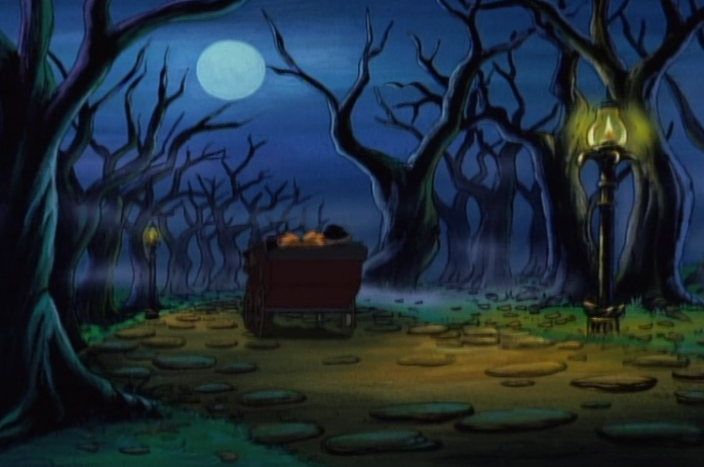 The cabbie rides through City Park at night, Hey Arnold episode 66