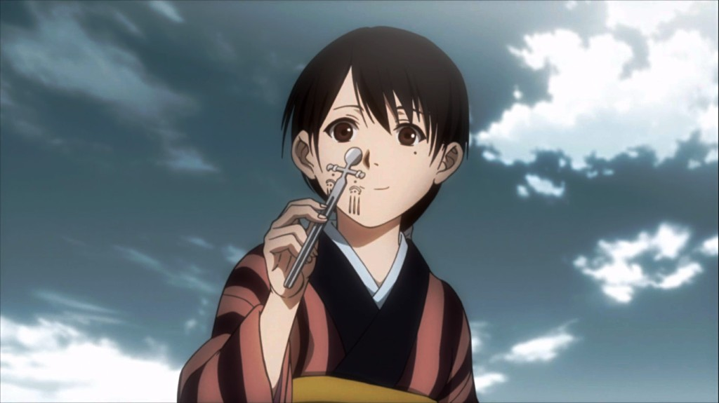 At least this little girl is happy. Blade of the Immortal episode 3.