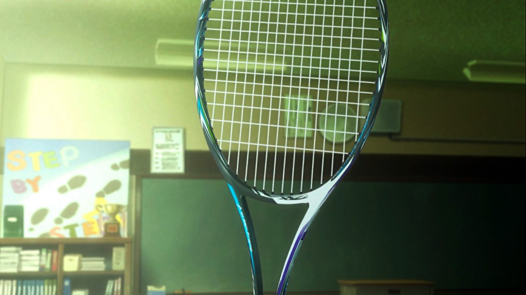 A brand new racket, infused with the power of friendship! Or, Shinjou's limitless bank account. Stars Align episode 5.