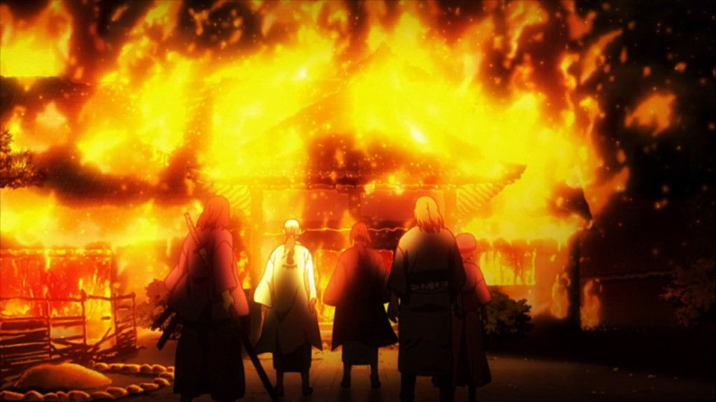 The Greatest burns down his dojo. Blade of the Immortal episode 13