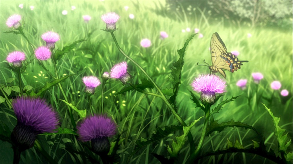 From larva, to caterpillar, to butterfly. As seen in Blade of the Immortal episode 9.