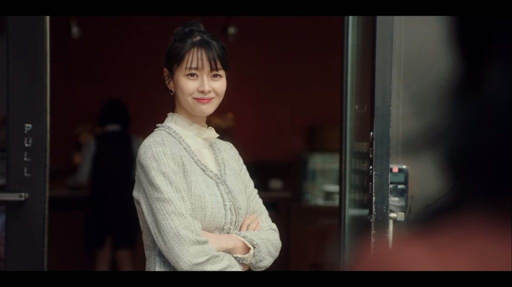 Oh Soo Ah stands in front of her new establishment. Itaewon Class Episode 16