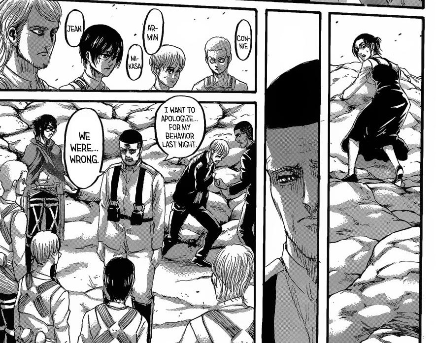 Gabi is seemingly Magath's conscience. Shingeki no Kyojin ch 128