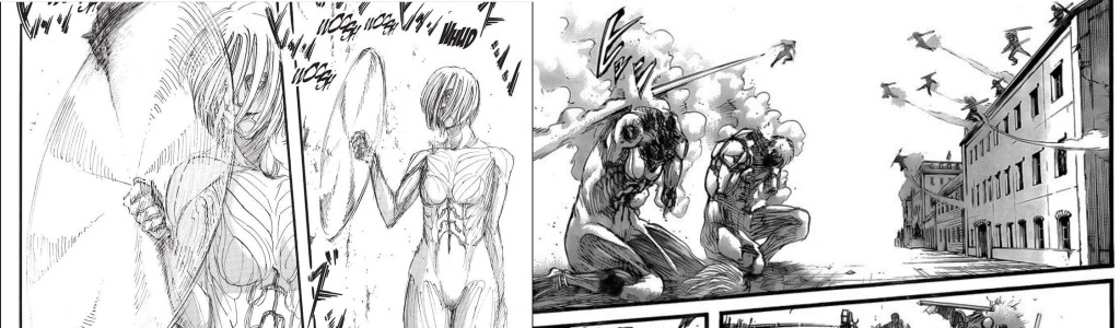 Annie Leonhart as the female titan chapter 24 vs chapter 129