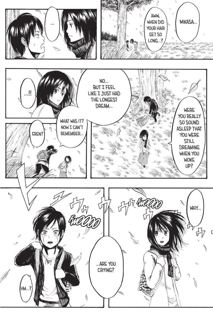 Eren's dream - Taken from Chapter 01 of the Shingeki no Kyojin manga
