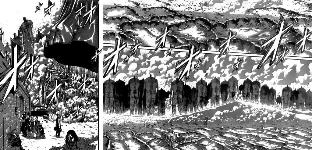 That one stupid door that wouldn't open. Shingeki no Kyojin Chapter 131