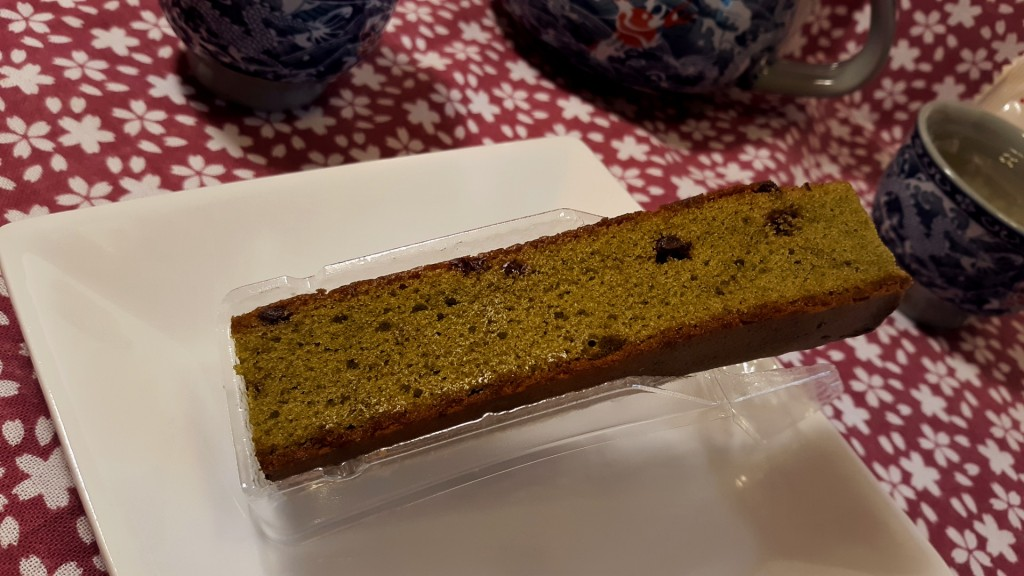 Very supple and moist matcha - chocolate pastry