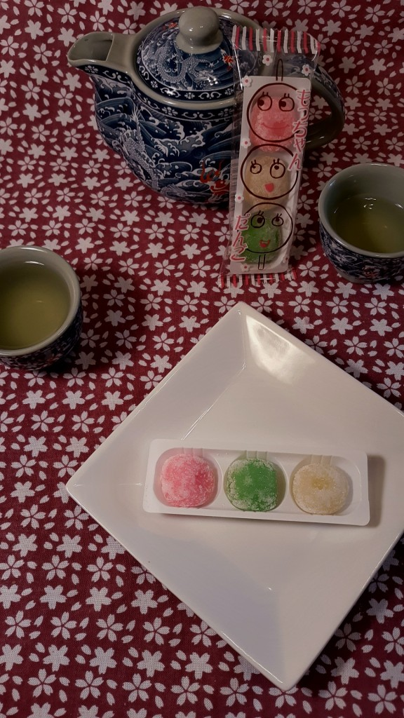 The dango went well with the tea