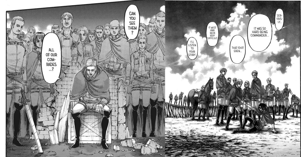 Can we face our fallen comrades with dignity? Attack on Titan Chapter 132
