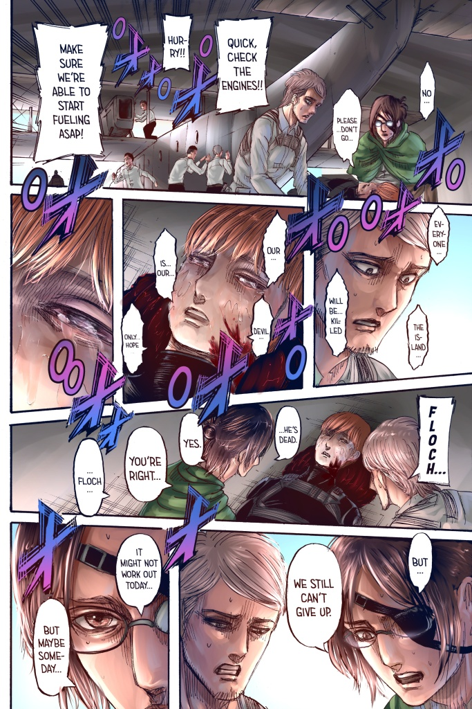Floch Forster's dying words. Attack on Titan chapter 132