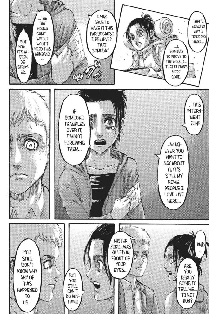 Gabi the Good Eldian. Attack on Titan Manga Chapter 105