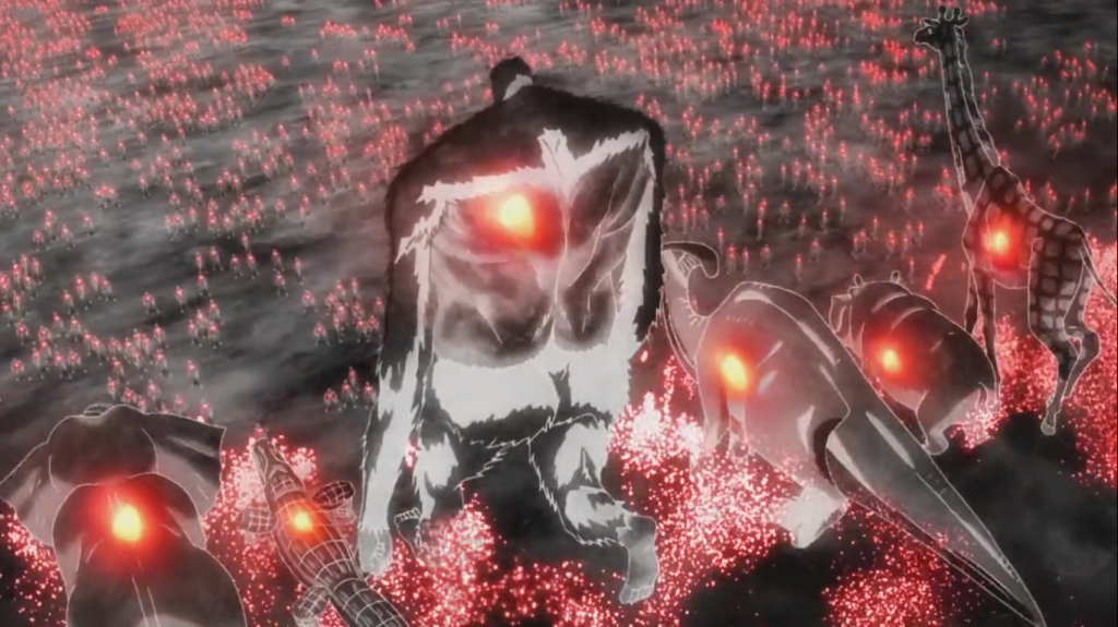 Zeke Yeager as the Beast Titan in the Attack on Titan Season 2 Opening