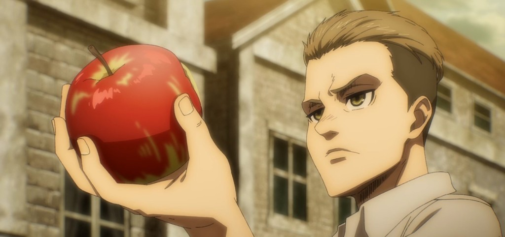Porco, Marcel, and Zeke(?) take a bite of the forbidden fruit...Attack on Titan the Final Season Episode 3