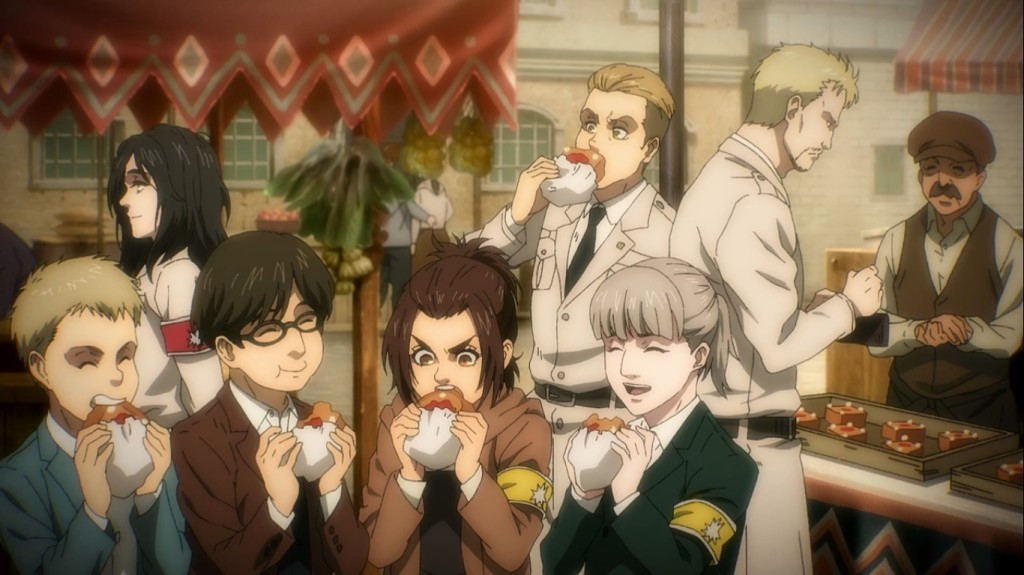 The Warriors enjoying their last moments of happiness... Attack on Titan the Final Season Episode 4