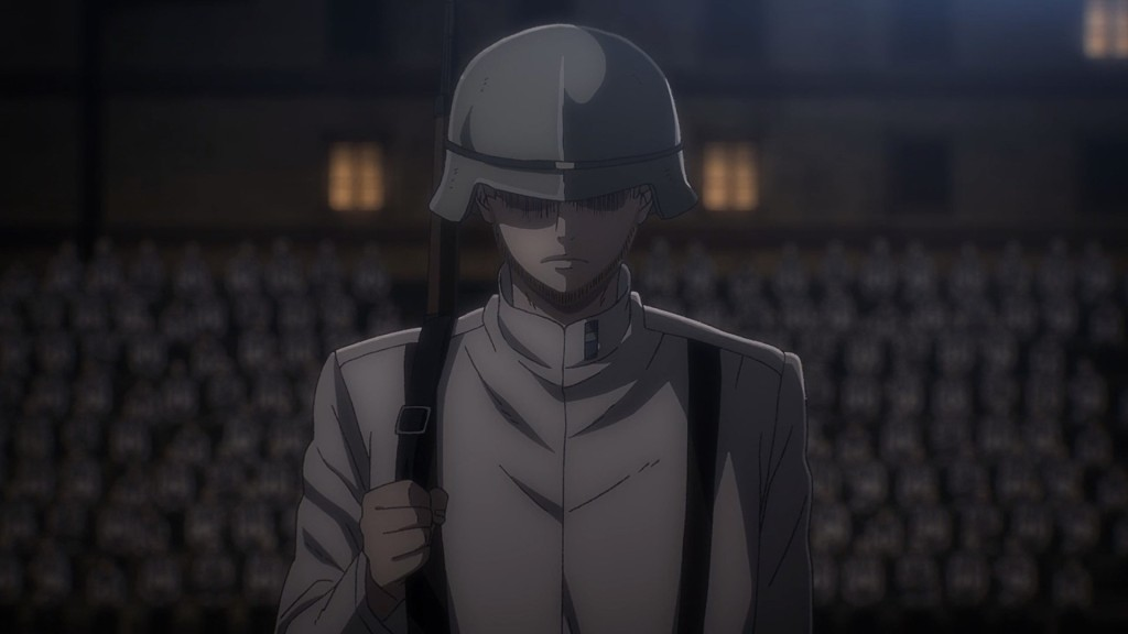 This beautiful man with impeccable facial hair really saved the episode for me. Attack on Titan the Final Season Episode 64