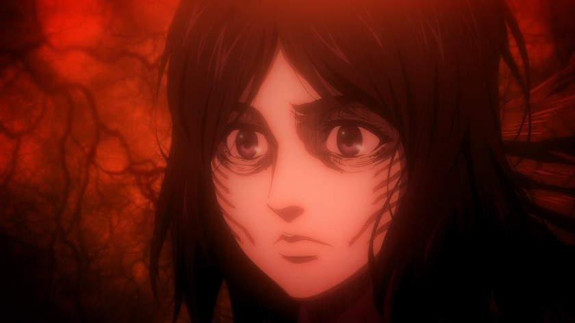 Remember this scene during the Raid on Liberio? Pieck is still onto you, Zeke. Attack on Titan Season 4, Part 1 Finale