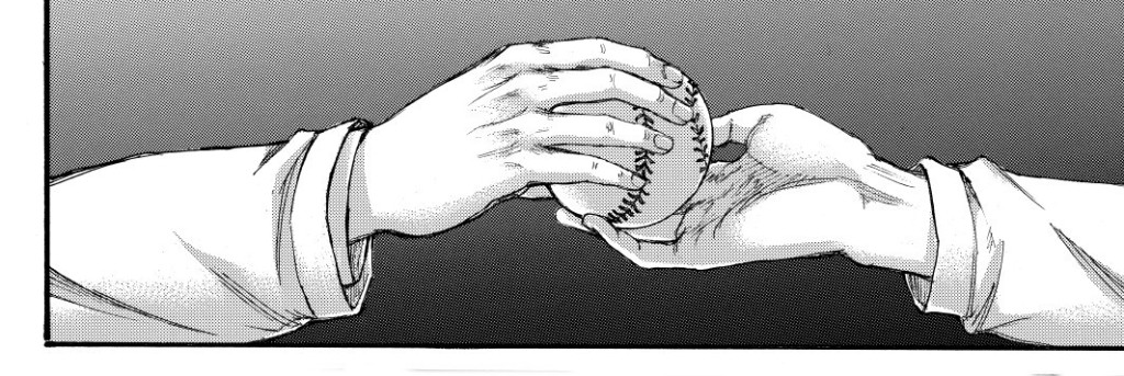 Zeke, Armin, and baseball. Shingeki no Kyojin manga chapter 137