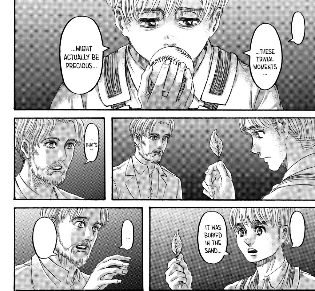 Armin and Zeke see two different things in PATHs. Shingeki no Kyojin chapter 137