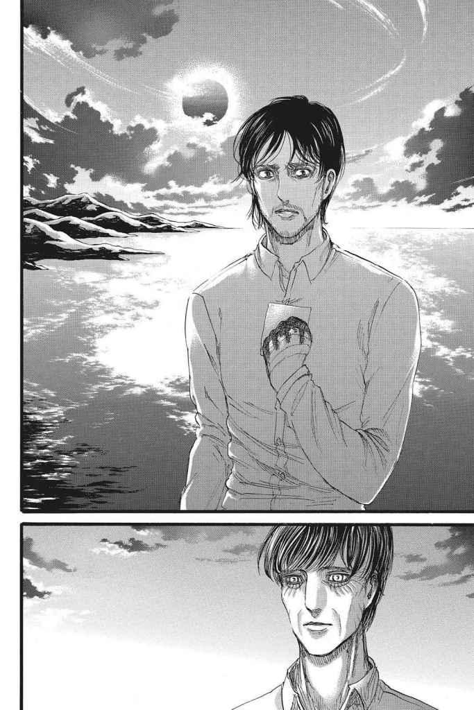 Grisha embraces the final mission The Owl leaves him with. Shingeki no Kyojin Chapter 88