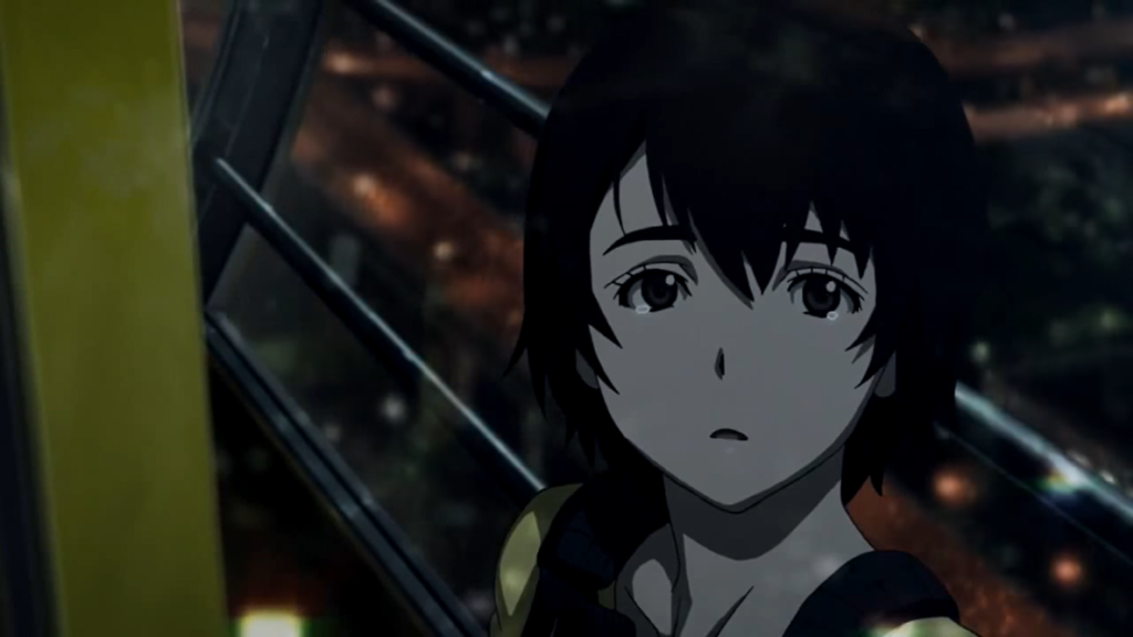 The moon comes out to shine from behind the clouds just as Lisa is about to hear something important from Twelve. The Zankyou no Terror Ferris Wheel Scene is intrinsically one of my most favored sequences in all  anime series I have ever viewed.