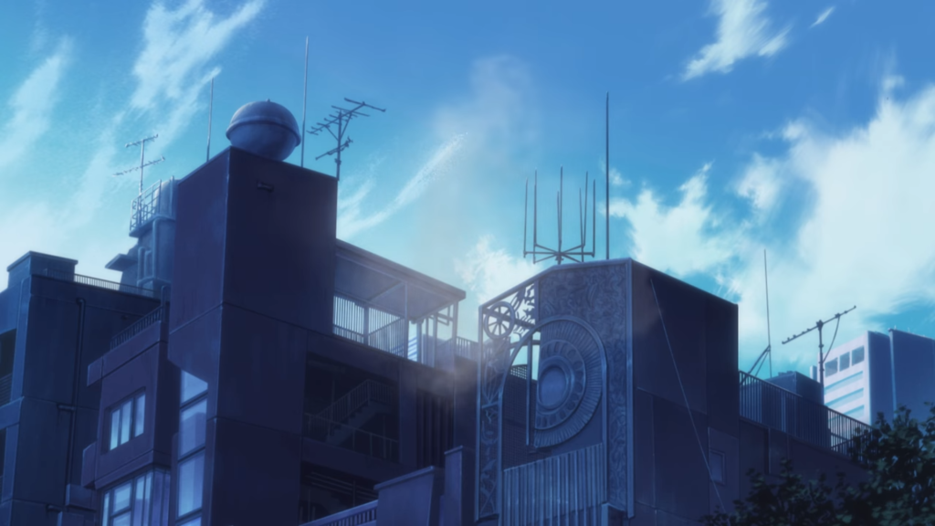 Beautiful Shibuya building aesthetic from Episode 1 of the Blue Period anime series.